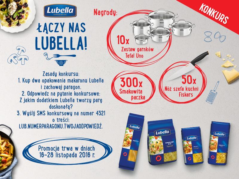 """Konkurs """"Łączy nas Lubella"""" whipermarketach isupermarketach sieci Carrefour"""
